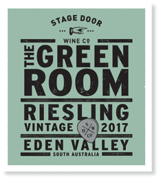 The Green Room 2017 Riesling - Poster Series - Stage Door Wine Co