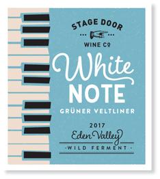 White Note 2017 Gruner Veltliner - Poster Series - Stage Door Wine Co