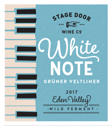 White Note 2017 Gruner Veltliner - Poster Series - Stage Door Wine Co
